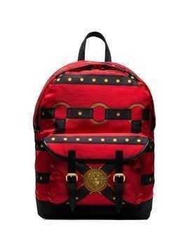 Versace Bondage-print backpack - Red