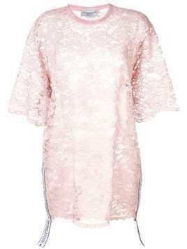 Forte Dei Marmi Couture sheer lace dress - Pink
