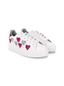 Chiara Ferragni Kids star embellished sneakers - White