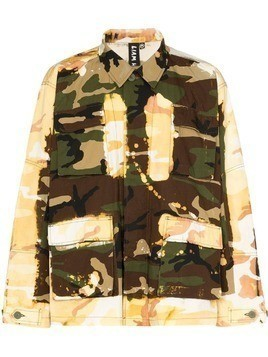 Liam Hodges acid-effect camouflage print jacket - Green