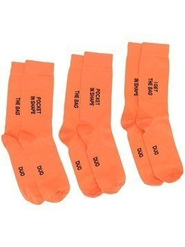 Natasha Zinko DUO 3 pairs of socks - Orange
