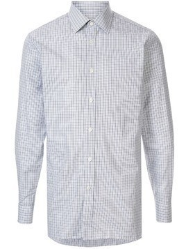 Gieves & Hawkes check pattern shirt - Blue