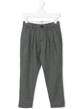 Paolo Pecora Kids smart pleated trousers - Grey