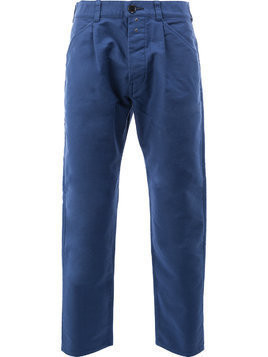 Ganryu Comme Des Garcons tapered cropped trousers - Blue