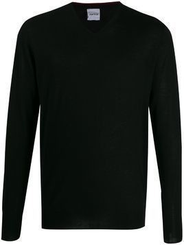 Aspesi fine knit V-neck jumper - Black