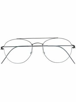Lindberg aviator frame optical glasses - Grey