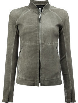 Isaac Sellam Experience high neck zipped jacket - Grey