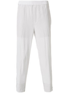 Neil Barrett cropped tapered trousers - Grey