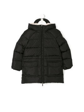 Il Gufo hooded padded coat - Black