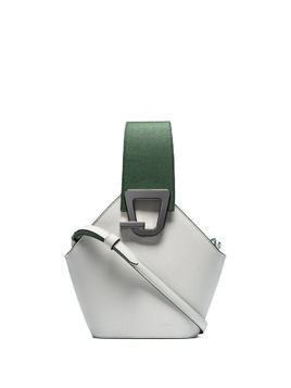 Danse Lente white Jonny mini leather bucket bag - Green