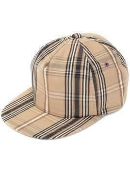 A(Lefrude)E plaid cap - Brown