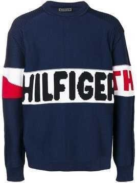 Hilfiger Collection logo intarsia jumper - Blue