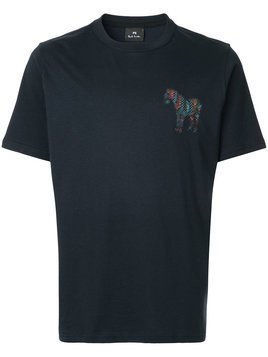 Ps By Paul Smith - chest print T-shirt - Herren - Organic Cotton - XL - Blue