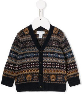 Ralph Lauren Kids teddy bear knit cardigan - Blue