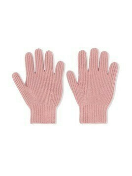 Bonpoint ribbed knit cashmere gloves - PINK