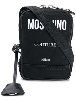 Moschino contrast logo shoulder bag - Black