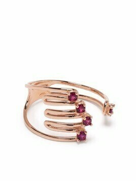 Vivetta crystal-embellished hand ring - Gold