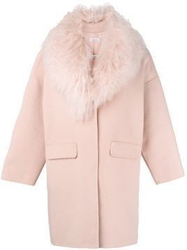 P.A.R.O.S.H. shawl collar coat - Pink & Purple