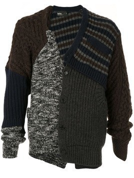 Kolor knitted wool cardigan - Multicolour