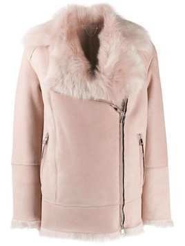 Desa 1972 fur collar jacket - PINK