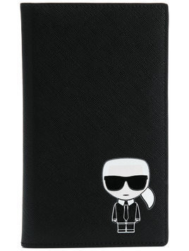 Karl Lagerfeld K/Ikonik travel wallet - Black