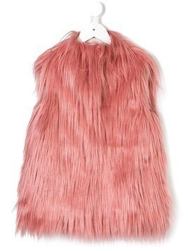 Il Gufo sleeveless fur gilet - Pink & Purple