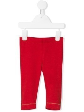 Little Marc Jacobs foil logo print leggings - Red