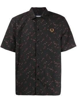 Fred Perry floral shirt - Black