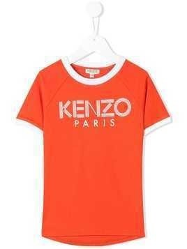 Kenzo Kids logo printed T-shirt - Orange
