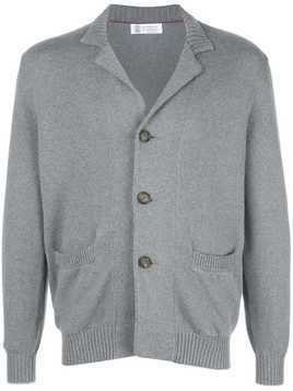 Brunello Cucinelli button knitted cardigan - Grey