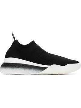Stella McCartney black and white Loop sock sneakers