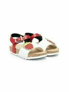 Monnalisa glitter Strawberry sandals - Red