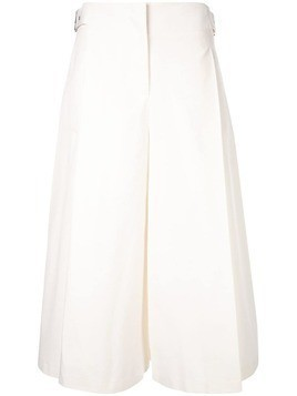 Jil Sander Navy cropped tailored trousers - White
