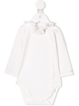 Chloé Kids ruffled neck body - White