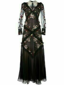 Erdem embroidered dress - Black