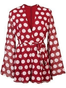 C/Meo dotted playsuit - Red