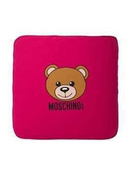 Moschino Kids Teddy Toy print blanket - Pink & Purple