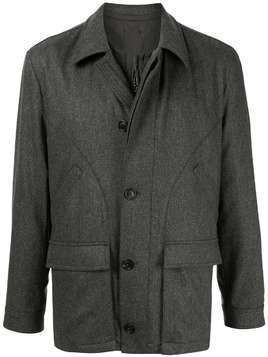 Gieves & Hawkes padded zipped jacket - Grey