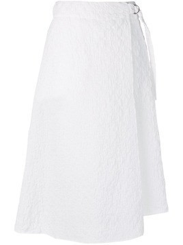 Jil Sander Navy textured draped skirt - White