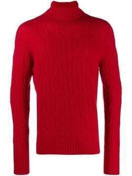 Drumohr roll-neck fitted sweater - Red