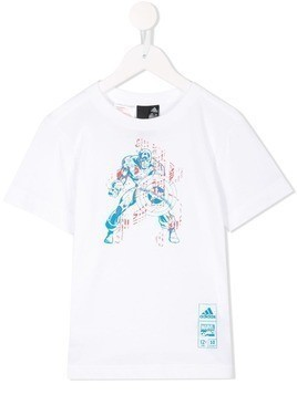 Adidas Kids Marvel Captain America T-shirt - White