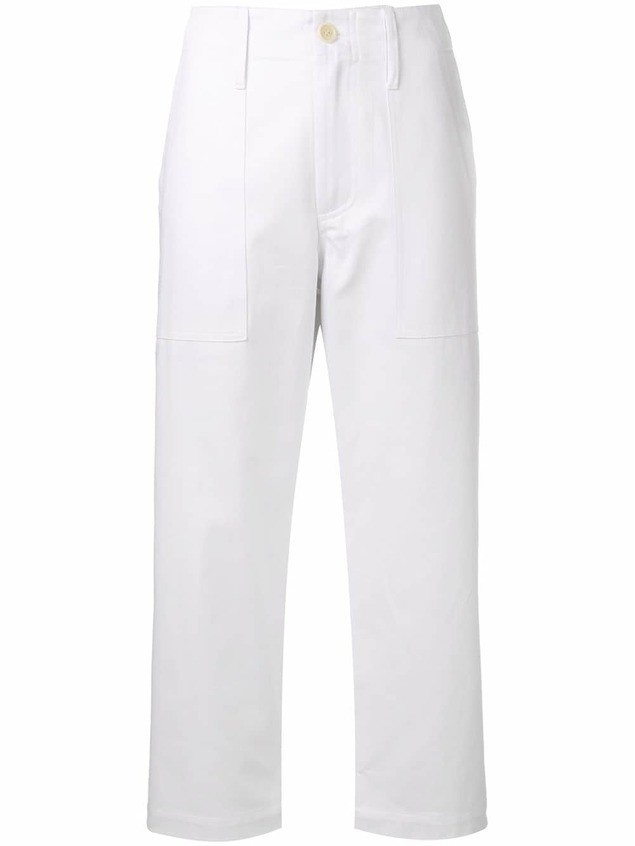 Jejia Camille cropped trousers - White
