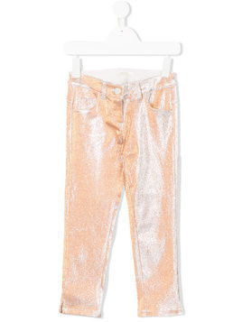 Miss Grant Kids metallic slim-fit trousers