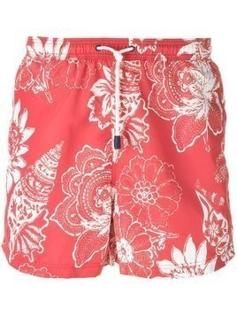 Etro floral print swim shorts - Red