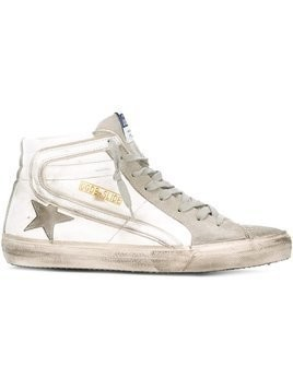 Golden Goose Deluxe Brand - Slide hi-top sneakers - Herren - Cotton/Leather/rubber/Suede - 40 - White