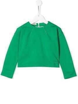 Marni Kids cropped sweatshirt - Green