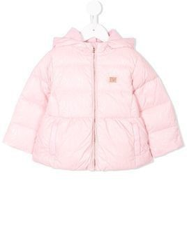 Emporio Armani Kids hooded puffer jacket - Pink & Purple