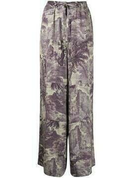 Pierre-Louis Mascia loose-fit straight-leg trousers - Purple