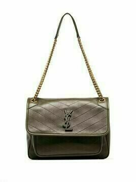 Saint Laurent medium Niki leather shoulder bag - Green