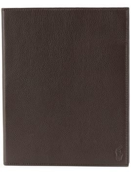 Ralph Lauren logo embossed iPad case - Brown